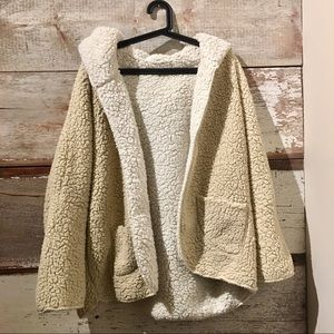 Urban Outfitters // reversible teddy coat